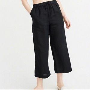 NWT Abercrombie & Fitch linen blend wide leg pants